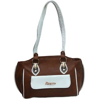 d338b0f7b9da Atorakushon Carrying Case Women s Elegance Style Handbag Clutches Ladies  Purse Travelling Tote Bag (Brown)