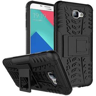 Anvika Hybrid Military Grade Armor Kick Stand Back Cover Case for Samsung Galaxy A9 Pro  (Black)