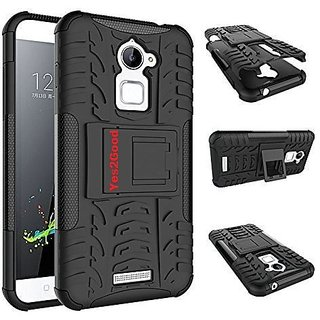 Anvika Defender Tough Hybrid Armour Shockproof Hard PC + TPU with Kick Stand Rugged Back Case Cover for Coolpad Note 3S- Black