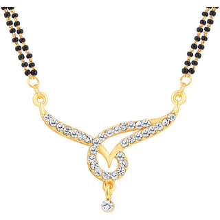 Gold Plated Mangalsutra Pendant by ShoStopper SJ16028MPN