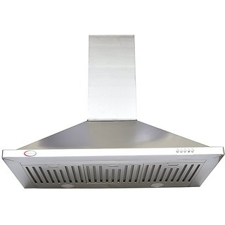 brightflame Kitchen Chimney - ASTER(SS) Airflow 1450 m / Hr in 90CM and Lifetime Warranty