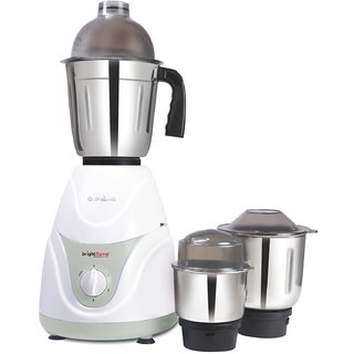 Brightflame Jura 550-Watt Mixer Grinder with 3 Jars (White)