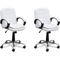 Fabsy Interior - Baxtonn Office Chair In White (Buy 1 Get 1 Free)