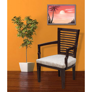 Fabsy Interior - Ethnic Bedroom Chair In Wallnut By Fabsy Interiors