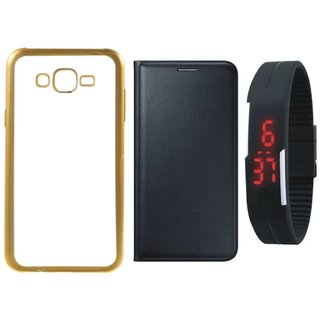 Lenovo K6 Power Chrome TPU Silicon Back Cover with Free Premium Leather Finish Flip Cover and Free Digital Watch