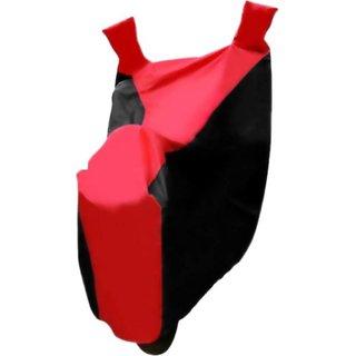 AKART Black Red Two Wheeler Cover-225 For CB Shine
