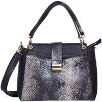 Diana Korr Black P.U. Totes Bag