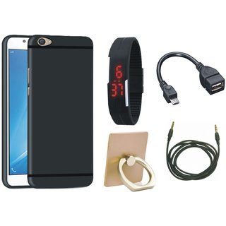 Lenovo K8 Plus Cover with Ring Stand Holder, Digital Watch, OTG Cable and AUX Cable