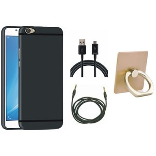 Lenovo K6 Note Back Cover with Ring Stand Holder, USB Cable and AUX Cable