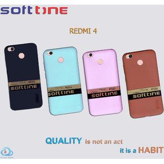 REDMI 4 FITTO SOFT TONE Ultra Thin Rubber Silicone Case Back Cover  With Camera Protection.