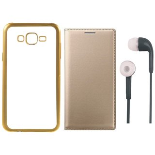 Vivo V5 Plus Back Cover with Free Leather Finish Flip Cover and Earphones