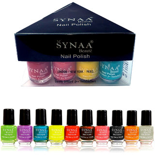 Synaa Nail Polish Spring Collection 2018 - Set of 10 Pieces - Multicolor Set 4 (240g)