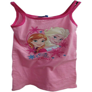 Revin Elsa and anna pink girls fancy tank tops