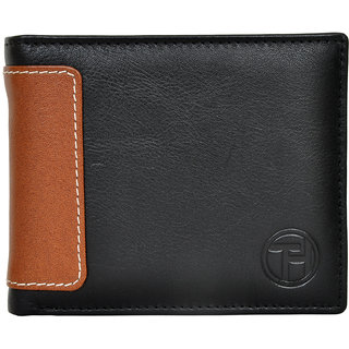 Chandair Pure Leather Black (Brown Patch) Men's Wallet
