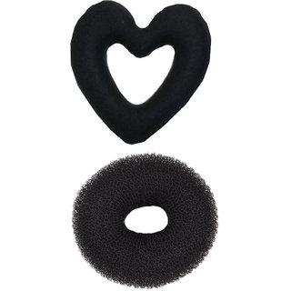 New Heart Sponge Hair Styling / Hair Donut Bun Maker (NERR)