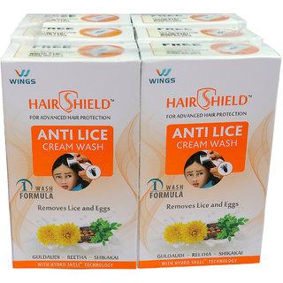 Hairshield Anti Lice Cream Wash 30 ML (Pack of 6)
