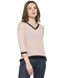 1e5b0ae18ea Buy Inspire World Corel Solid V-Neck Casual Top For Womens Online - Get 35%  Off