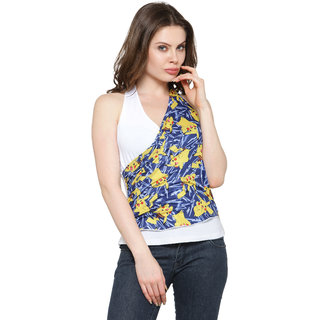 5e2d1b45449 Buy Inspire World White With Floral Print Halter Neck Casual Top For ...