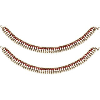 Jewels Gold Alloy Party Wear Stylish Anklet For Women  Girls