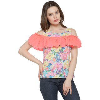 743dd90abcc52 Buy Inspire World Multicolor Printed Henley Neck Crop Tops For Women Online  - Get 35% Off