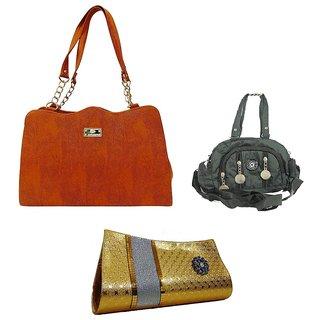 Bagizaa Multicolor Handbag Combo of 3