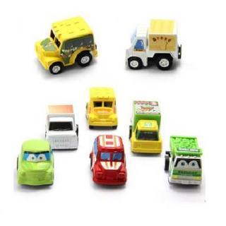 6pcs Mini Pull Back Car Set ( color may vary)