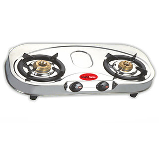 brightflame 2 Burner Stainless Steel Gas Stove - Premium Series