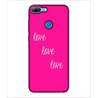 For Huawei Honor 9 Lite love ( good quotes,nice quotes,pink background,quotes,love ) Printed Designer Back Case Cover By Human Enterprise