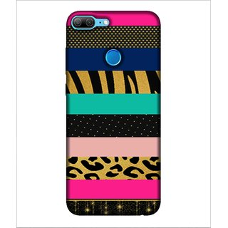 For Huawei Honor 9 Lite many pattern ( nice pattern,pattern,stripes,polka,zigzag ) Printed Designer Back Case Cover By Human Enterprise