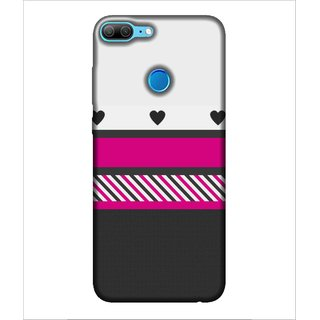 For Huawei Honor 9 Lite stripes pattern ( heart,black heart,stripes,pattern,nice pattern ) Printed Designer Back Case Cover By Human Enterprise