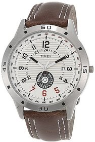Timex Round Analog Multi Leather Watch For Men