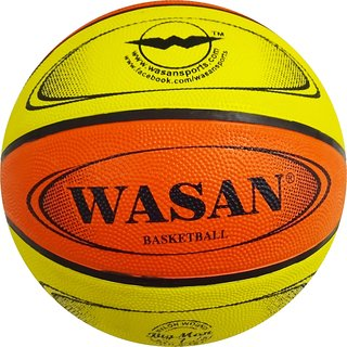 Wasan Basketball yellow/orange Size 7 (12 years and above)