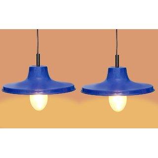 A&H  Blue  color  Iron  Pendant Light / Ceiling Lamp Ceiling Light / Hanging Lamp Hanging Light  ( Pack of 2 )