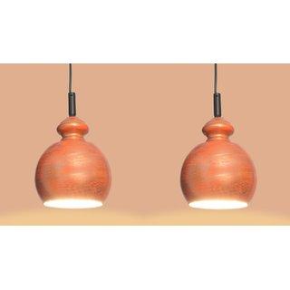 AH  Orange Shading Color Iron  Pendant Light / Ceiling Lamp Ceiling Light / Hanging Lamp Hanging Light ( Pack of 2 )
