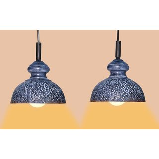 AH  Grey Color Geometric Design  Iron Pendant Light / Ceiling Lamp Ceiling Light / Hanging Lamp Hanging Light ( pack of 2 )