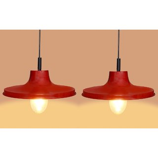 AH Red  color  Iron   Pendant Light / Ceiling Lamp Ceiling Light / Hanging Lamp Hanging Light  ( Pack of 2 )