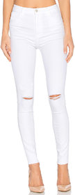 XEE Women White Skinny Fit Ripped Jeans
