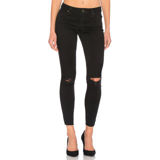XEE Women Black Skinny Fit Ripped Jeans