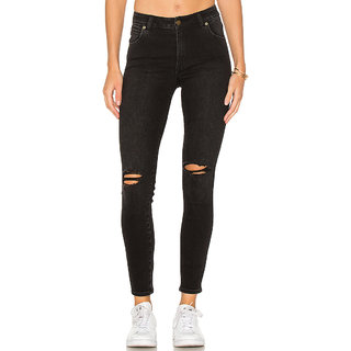 XEE Women Black Regular Fit Ripped Jeans