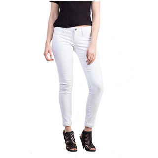 XEE WOMEN'S SKINNY FIT WHITE JEANS