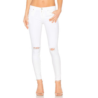XEE Women White Regular Fit Ripped Jeans