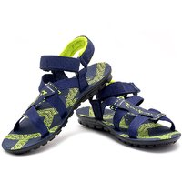 Chevit Men's Super-61 Navy Green Sandals And Floaters
