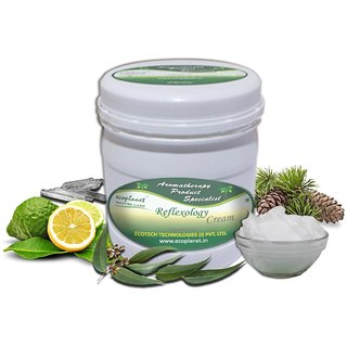 ecoplanet Aromatherapy Reflexology Foot Massage Cream 1 Kg For Cramp, Pain Relief