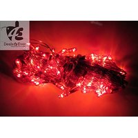 Red Rice Lights Serial Bulbs Decoration Lighting For Diwali Navratra Christmas