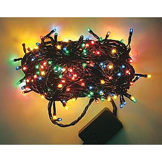 Remote LED Rice Serial String Lights for Decoration - 8 Functions/Multi Color