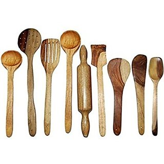 SG Art O Kitchen Wooden Wooden Spoon Set (Pack of 9)
