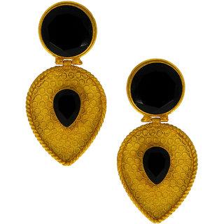 Anuradha Art Black Colour Stylish Designer Traditional Earrings For Women/Girls