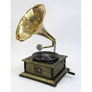 Antique Working Gramophone 19th century with free record by eMarket