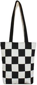 Ryan Women's Shopping Cotton Tote Bag (black  White)