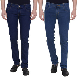 Masterly weft Multicolored Pack Of 2 Slim Jeans For men